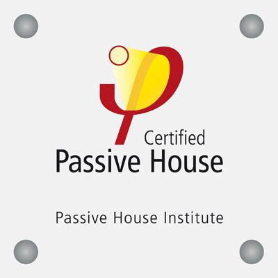 Passivhaus certification building plaque